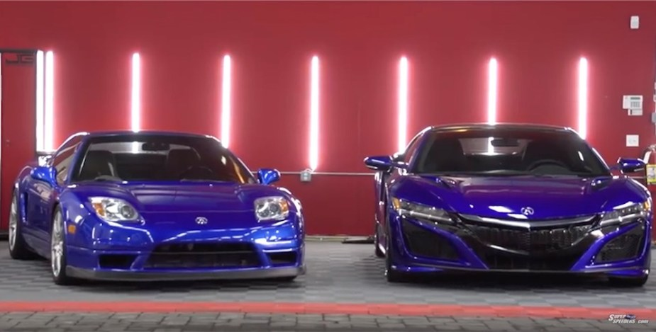 Two generations of the NSX