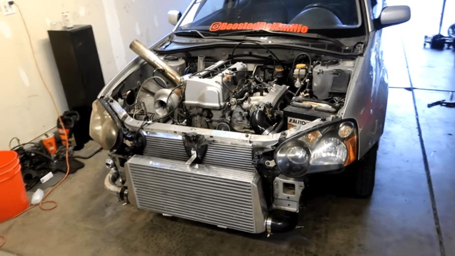 Turbo K20-swapped Subaru STi is Faster than Standard