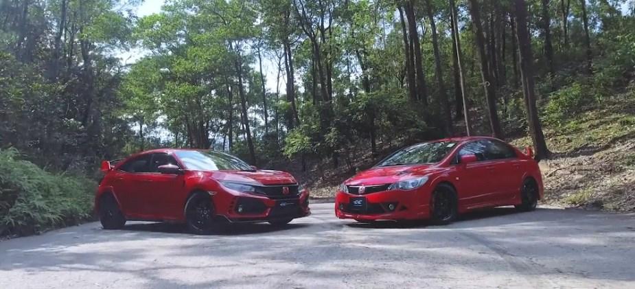 Honda Civic Type R FK8 vs. Civic Mugen RR FD2 Honda-tech.com