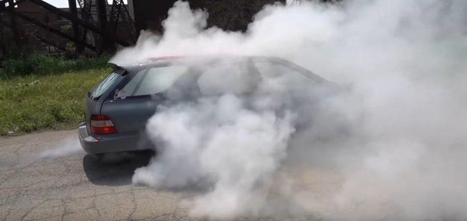 Honda Accord Huge Rear Drive Burnout