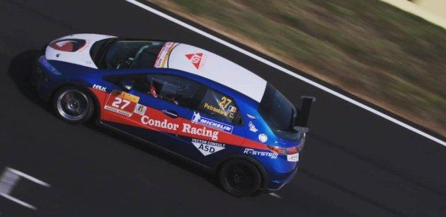 Honda Civic Type R Race Car High Angle