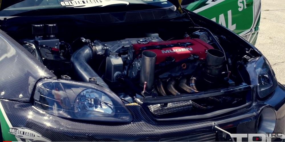 1300 WHP Turbo EK Civic B16 B18 Drag Build Honda-tech.com