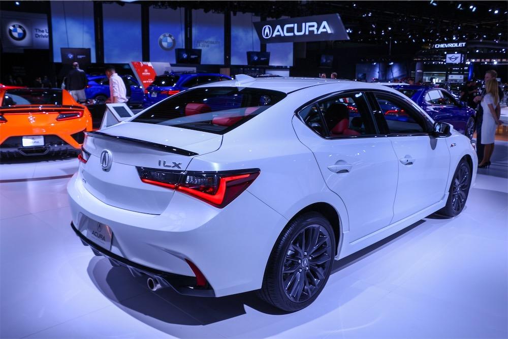 Acura ILX A-Spec in white.