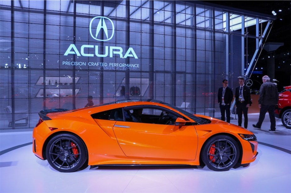 Acura NSX in orange.