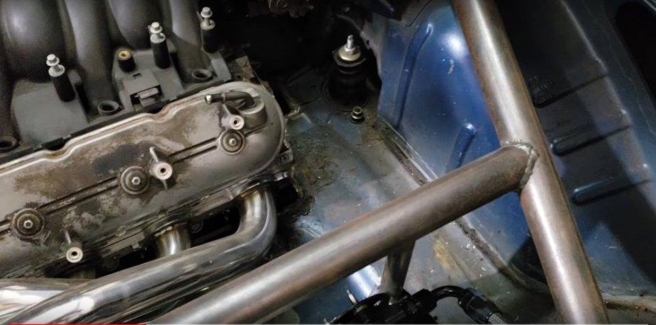 Acura RSX LS4 Rear Engine Close