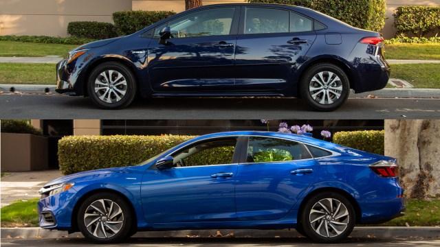 2020 Toyota Corolla LE Hybrid Honda Insight Comparison Review
