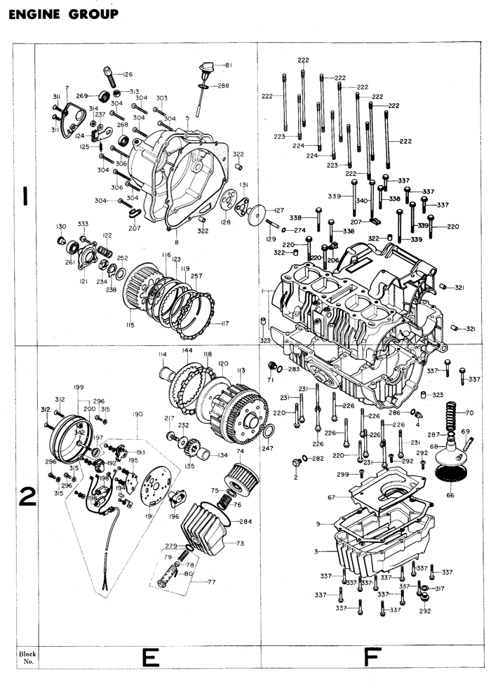 exploded views  parts list | 4into1 Vintage Honda