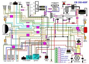 CB400F wiring diagram | 4into1 Vintage Honda