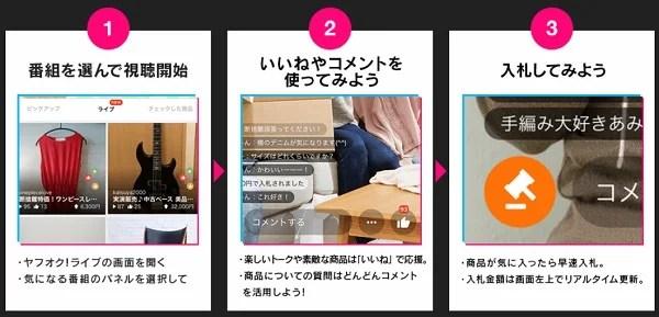 ヤフオク!ライブの使い方・視聴者8-1