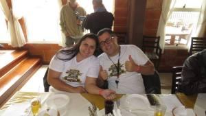 Casal Clécio Renato Silva e sua esposa Marilaine