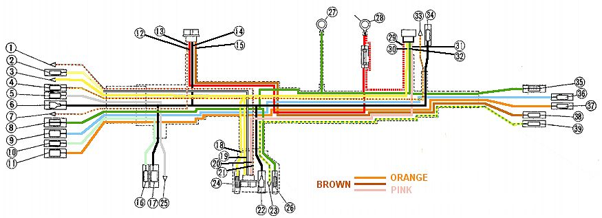 CB450 Color Wiring Diagram (now Corrected