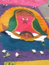 For a few hours the main streets of Comayagua are transformed by bright colours and intricately designed alfombras.