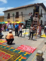 Many alfombras have ladders next to them you can climb to take photos.