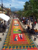 A photo of an alfombra taken from one of the ladders.
