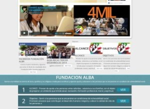 Desarrollo de aplicaciones web En honduras  Fundacion Alba El Salvador.
