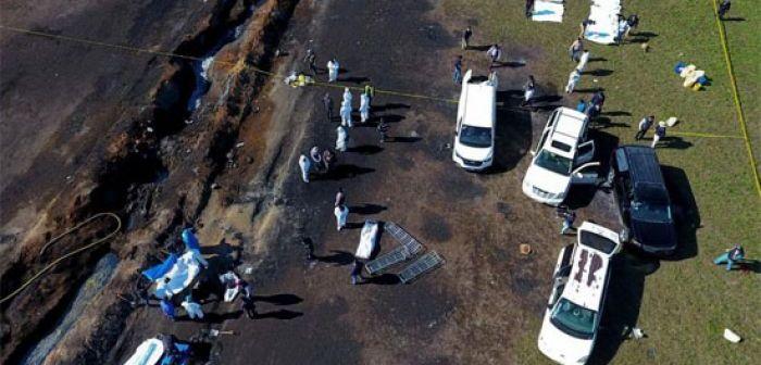 Asciende a 109 cifra de muertos por explosión de toma de gasolina en México