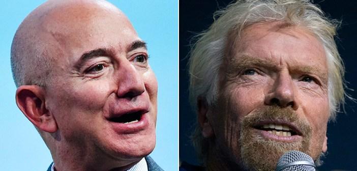 Se acelera carrera espacial multimillonaria entre Bezos y Branson