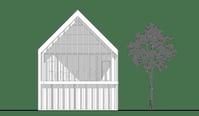 coupe élévation design minimalisme honei architecture