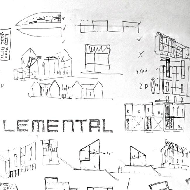 elemental architecture sociale plan croquis Chili