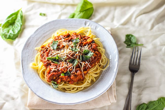 Spaghetti with Beef and Marinara