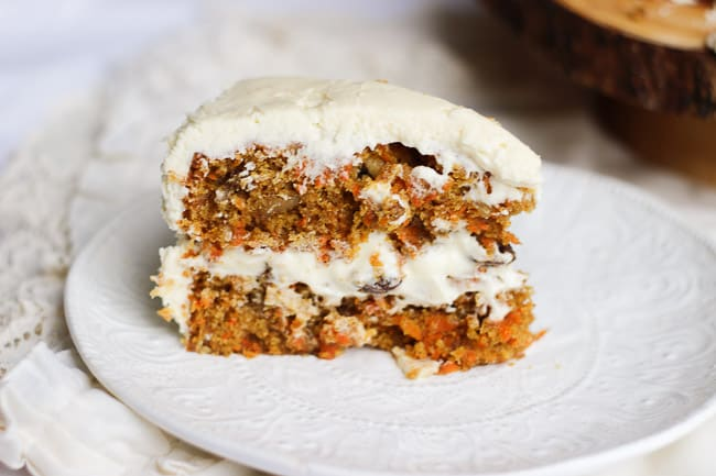 The Best Carrot Cake With Cream Cheese Frosting Honest Tasty
