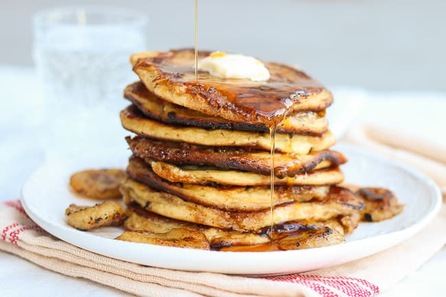 the best brown sugar and banana pancakes-3