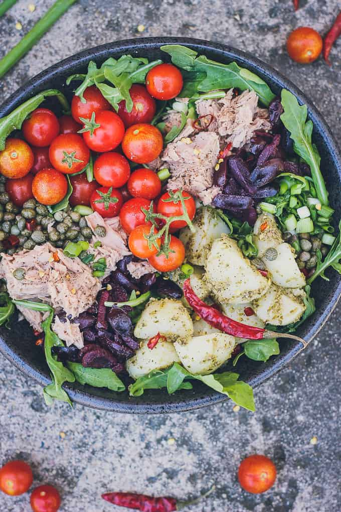 mediterranean tuna and potato summer salad-19