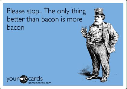consuming data consuming bacon