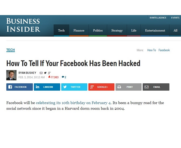 check for hackers on facebook