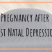 Pregnancy after Post Natal Depression
