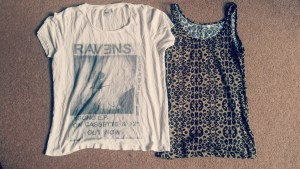 T-shirt and vest from ASOS and New Look