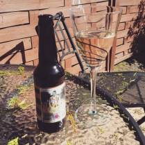 First drinks out in the garden