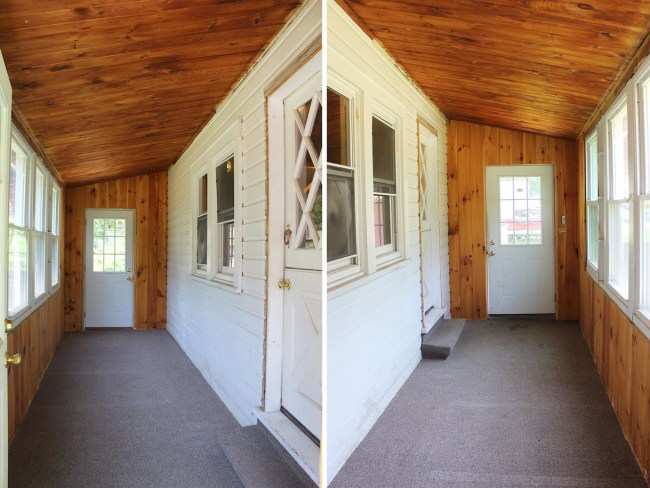 Entryway before from both sides