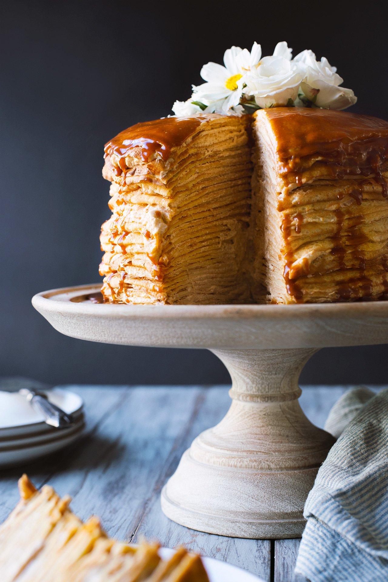 Salted Caramel Vanilla Cake Recipe
