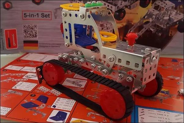 Tronico Metallbaukasten für Kinder - Baustellenfahrzeug