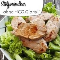 Grüner Salat mit Fleisch - Stoffwechselkur ohne HCG Globuli