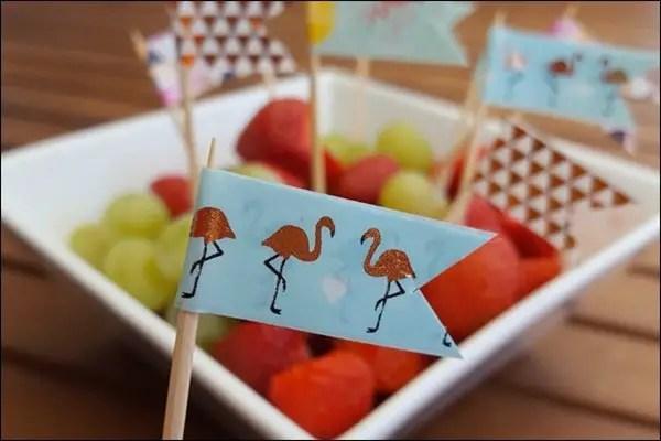 Flamingo Washi Tape Fähnchen