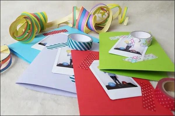 Ideen mit der Instax - Einladungskarten für Kindergeburtstag basteln