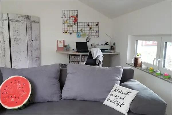 Mein Home Office Kreativzimmer mit Paravent