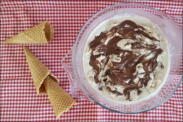 Bananeneis mit Nutella - Eis selber machen