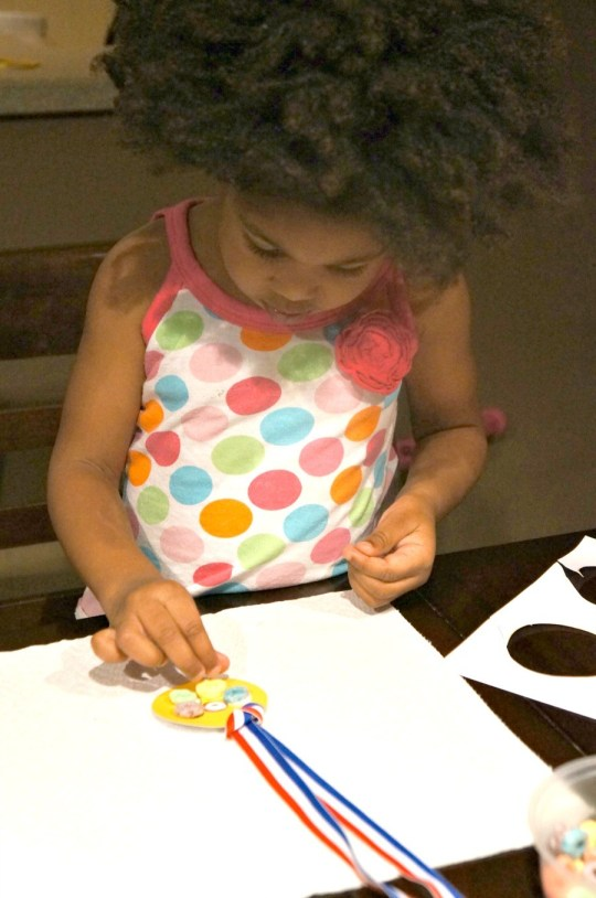 Little girl crafting, mommyGAGA.com
