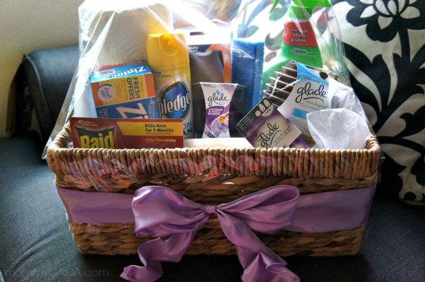 Creative DIY Housewarming Gifts - make this home essentials gift basket