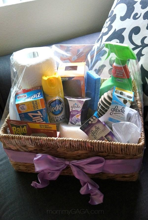 Housewarming gift ideas, DIY essentials gift basket with Glade® Fragrances