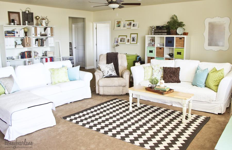 Family Room Makeover For $250