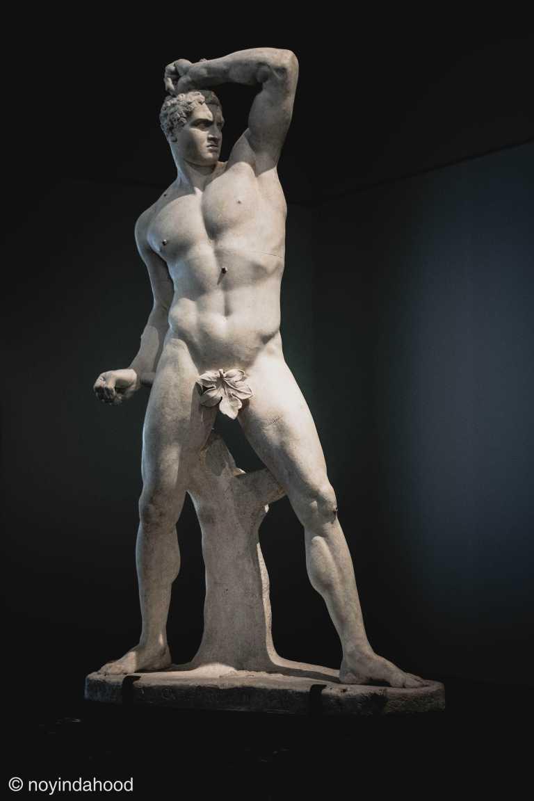 marble-male-statue-sculpture-displayed-louvre-museum-abudhabi