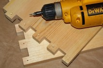 3. Drill so head of screw will be flush with surface.