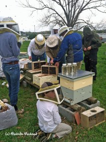 Koty and the mentoring class at the Tennessee Valley Bee Keeper's Association in Chattanooga.