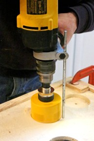 Drilling-with-hole-saw
