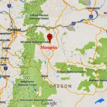 Maupin is in the Oregon high desert. © Google Maps.