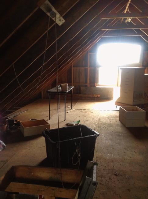 carol-lew-bucket, pulley and ladder